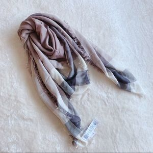 NWT Authentic Coach Cashmere Blend Square Scarf